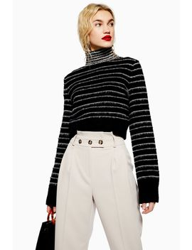 Petite Paperbag Tapered Trousers by Topshop