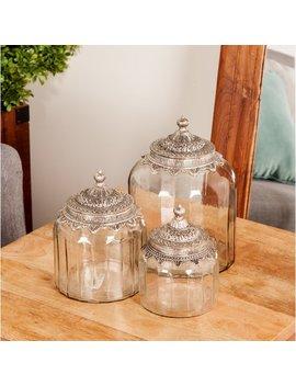 Traditional 3 Piece Storage Jar Set by House Of Hampton