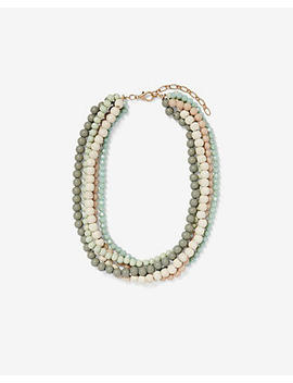 Multi Layer Beaded Necklace by Express