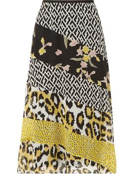 Darcie Printed Silk Chiffon Midi Skirt by Diane Von Furstenberg