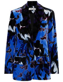 Tommy Floral Print Velvet Blazer by Diane Von Furstenberg