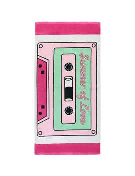 Cassette Graphic Beach Towel by Forever 21