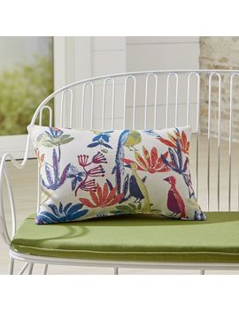 Tropic Outdoor Lumbar Pillow by Crate&Barrel