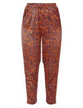 Orange Contrast Leopard Print Cigarette Trouser by Prettylittlething