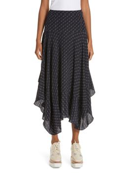 Poppy Logo Print Asymmetrical Skirt by Stella Mccartney
