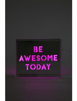 "Locomocean ""Be Awesome Today"" Acrylic Light by Forever 21"