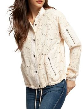 Embroidered Floral Lace Cotton Jacket by Dex