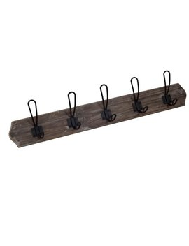 "27.75""L Wood And Metal Hook by Jeco"