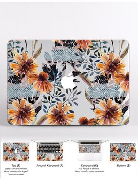 Art Design Mac Book Air 13 Retina 2018  Floral Decal Pro Retina 15 Inch Mac Book 12 Decal Mac Book Pro 13 Skin Mac Air 11 Sticker Laptop Dr3750 by Etsy