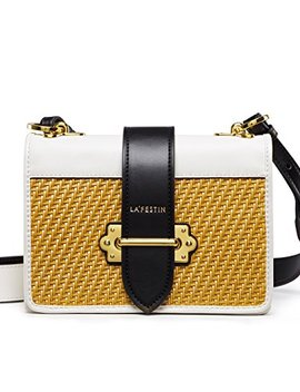 La'festin Women's Cross Shoulder Bags Small Leather Woven Side Purses For Ladies by La'festin