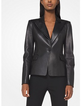 Plongé Leather Jacket by Michael Kors Collection
