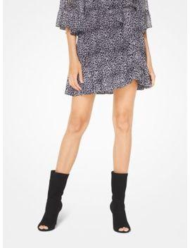 Leopard Georgette Skirt by Michael Michael Kors