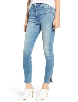 The Swooner High Waist Slice Ankle Skinny Jeans by Mother