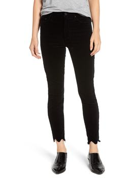 The Looker High Waist Chew Hem Ankle Skinny Jeans by Mother