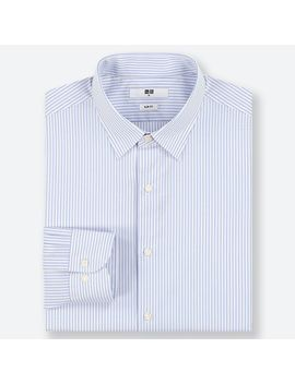 Easy Care Striped Stretch Slim Fit Long Sleeve Shirt by Uniqlo