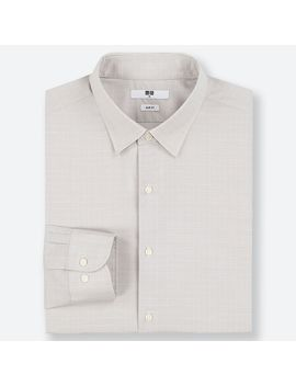 Easy Care Checked Stretch Slim Fit Long Sleeve Shirt by Uniqlo