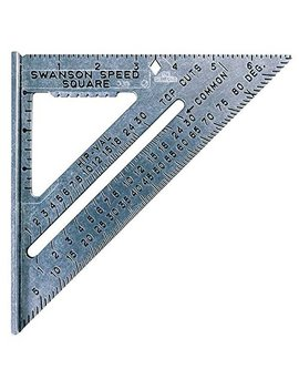 Swanson Tool S0101 7 Inch Speed Square Layout Tool With Blue Book by Swanson Tools