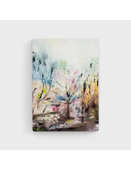 Impressionist Landscape Painting   Cherry Blossom Art, Spring Painting, Peaceful Art by Etsy