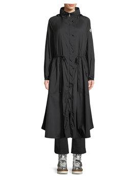 Mouette Long Raincoat W/ Removable Hood by Moncler