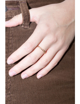 Gold Twist Ring by Brandy Melville