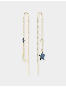 Duo Moon Pierced Earrings by Swarovski