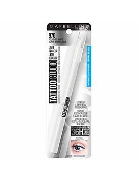 Maybelline New York Tattoostudio Waterproof, Long Wearing, Eyeliner Pencil Makeup, Polished White, 0.04 Ounce by Maybelline New York