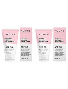 Acure Organics Seriously Soothing Spf 30 Face Cream (Pack Of 2) With Aloe Vera, Argan Oil, Shea Butter, Coconut Oil And Blue Tansy, 1.7 Fl.... by Acure Organics