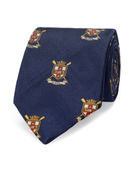 Silk Narrow Club Tie by Ralph Lauren