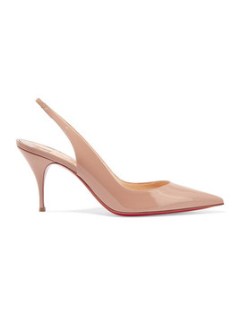 Clare 80 Patent Leather Slingback Pumps by Christian Louboutin