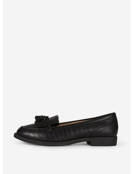 Black Pu 'Laurie' Loafers by Dorothy Perkins