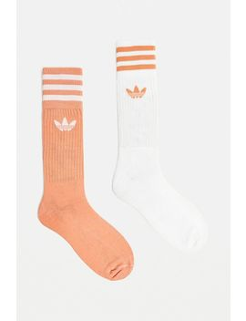 Adidas Pink Crew Socks 2 Pack by Adidas
