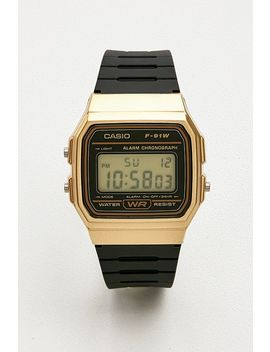 Casio F91 W 1 Black And Gold Watch by Casio