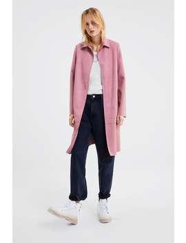 Faux Suede Coat  Must Haveswoman by Zara