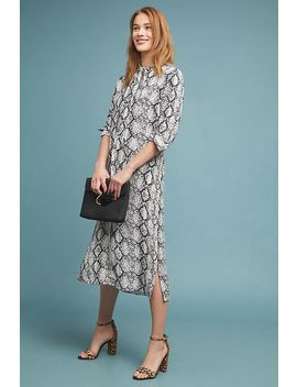 Imanio Snake Printed Shirtdress by Anthropologie