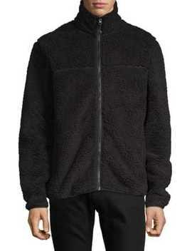Faux Fur Sherpa Mock Neck Sweater by Stussy