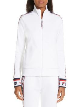 X Fila Mania Logo Zip Jersey Jacket by Fendi