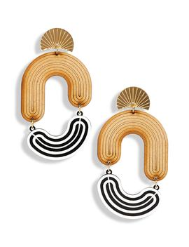 Ellie Circle Mod Earrings by The Accessory Junkie