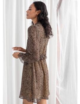 Zig Zag Ruffled Mini Dress by & Other Stories