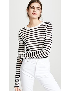 Classic Striped Slub Jersey Long Sleeve Tee by Alexanderwang.T