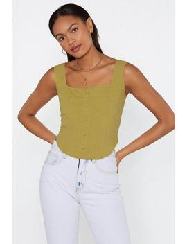 Cup To Speed Button Down Linen Top by Nasty Gal