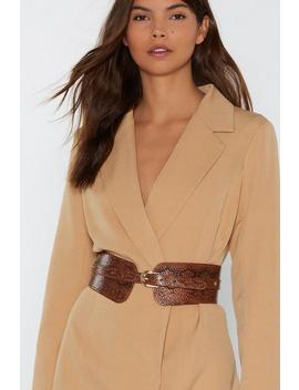 The Winner Snakes It All Faux Leather Waist Belt by Nasty Gal