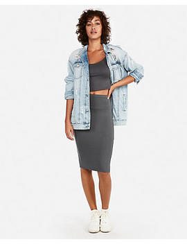 High Waisted Supersoft Pencil Skirt by Express