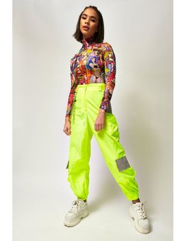 **Neon Cargo Trousers By Jaded London by Topshop