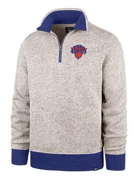 Men's New York Knicks Kodiak Quarter Zip Pullover by '47 Brand