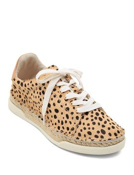 womens-madox-leopard-print-calf-hair-lace-up-sneakers by dolce-vita