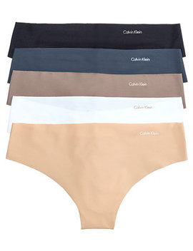 Invisible Thong 5 Pack Qd3556 by Calvin Klein