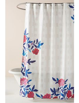 Paule Marrot Rose Vine Shower Curtain by Paule Marrot For Anthropologie