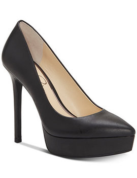 Lael Pointed Toe Platform Pumps by Jessica Simpson