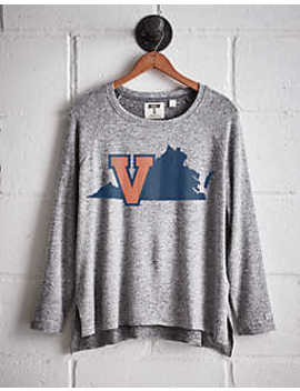 Tailgate Women's Uva Cavaliers Plush Tee by American Eagle Outfitters