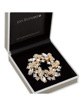 Jon Richard   Crystal Wreath Brooch by Jon Richard